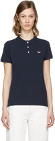 MAISON KITSUNÉ Navy Fox Patch Polo