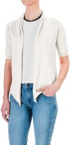 Workshop Republic Clothing Open Front Cardigan Sweater - Elbow Sleeve (For Women)