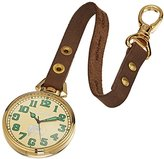Dakota Men's Quartz Metal and Leather Watch, Color:Brown (Model: 31782)