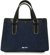 Nine West Betha Denim-Front Satchel