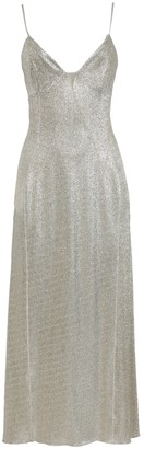 Paco Rabanne Silver And Gold Midi Dress