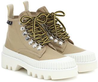 Proenza Schouler Lug Sole canvas ankle boots