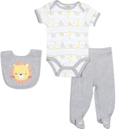 Cutie Pie Baby Gray Lion Short-Sleeve Bodysuit Set - Infant
