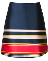Suno striped A-line skirt