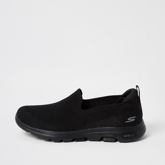 Skechers black Go Walk 5 trainers