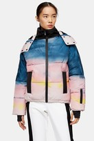 Topshop Ombre Printed Ski Jacket by SNO