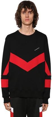Givenchy V-Cut Logo Embroidered Sweatshirt