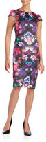 Betsey Johnson Floral Tie-Dyed Sheath Dress