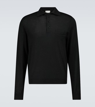 Lemaire Long-sleeved knitted polo shirt