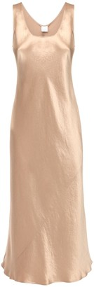 Max Mara Satin Flared Midi Dress