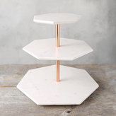 Tiered Marble Serving Stand