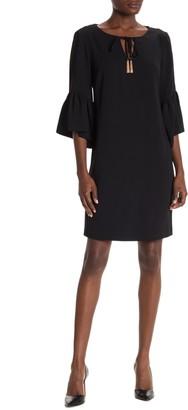Trina Turk Baroque Ruffle Sleeve Dress