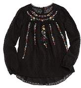 Ella Moss Girls' Kera Embroidered Top - Big Kid