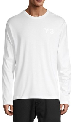 Y-3 Long-Sleeve Stretch-Cotton Tee