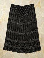 Free People Vintage Long Beaded Skirt