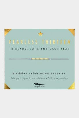 Lucky Feather Fearless Thirteen Self-Pull Bracelet - Gold