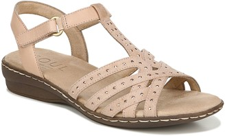 Naturalizer Soul Beaded Detail Ankle Strap Sandals - Brielle