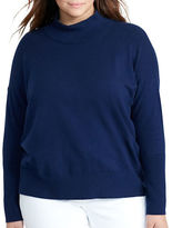 Lauren Ralph Lauren Plus Combed Cotton Turtleneck