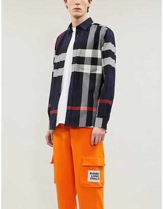 Burberry Somerton checked regular-fit stretch-cotton shirt