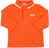 HUGO BOSS COTTON PIQUÉ LONG-SLEEVE POLO SHIRT
