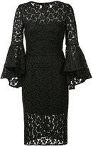 Milly lace trim dress - women - Polyester/Spandex/Elastane - 2
