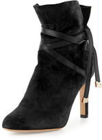 Jimmy Choo Dalal Suede Ankle-Wrap Boot