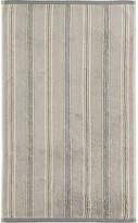 Sanderson Brecon Stripe Towel - Silver - Guest Towel