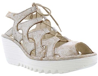 Fly London Women's Sandals 002 - Pearl Wedge Yexa Leather Slingback - Women