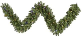 "Vickerman 9' x 18"" Pre-Lit Grand Teton Artificial Christmas Garland - Multi LED Lights"