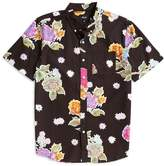 HUF Botanica Floral Short Sleeve Shirt Black