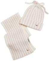 Giorgio Armani Infant Girls' Striped Hat and Scarf Set - Sizes S-L