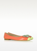 Kenzo Coral Pink Patent Leather Ballerina