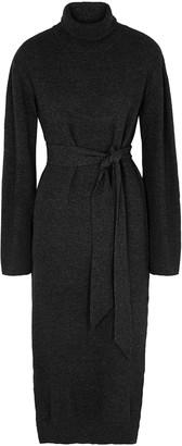 Nanushka Canaan charcoal wool-blend midi dress