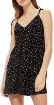 Topshop Glitter Star Velvet Slipdress