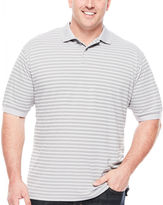 Claiborne Short-Sleeve Performance Striped Polo - Big & Tall
