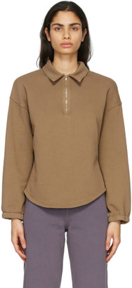 Raquel Allegra Brown Fleece Vintage Collar Sweatshirt