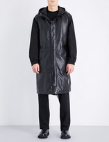 McQ by Alexander McQueen Hooded leather and shell jacket