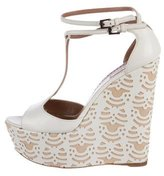 Alaia Leather Laser Cut Wedges