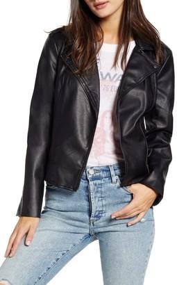 BB Dakota Late Night Faux Leather Moto Jacket