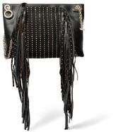 Jimmy Choo Leather And Embellished Suede Shoulder Bag