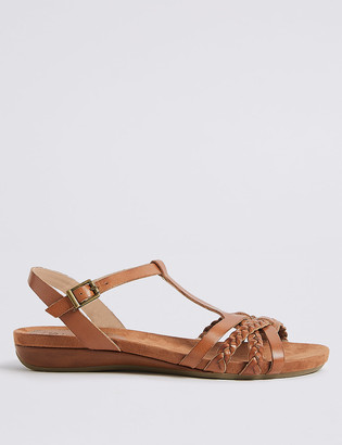Marks and Spencer Wide Fit Leather Gladiator Sandals