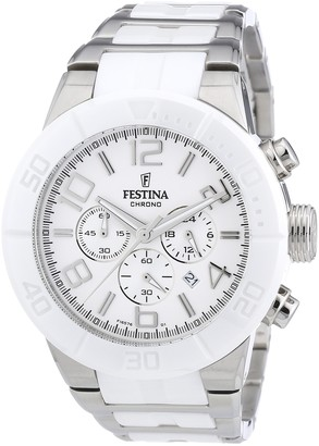 Festina Men's Chronograph Watch F16576/1 with Stainless Steel Strap and White Dial