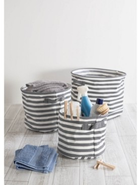 Design Imports Coated Woven Cotton 2-Pc. Storage Bin Set