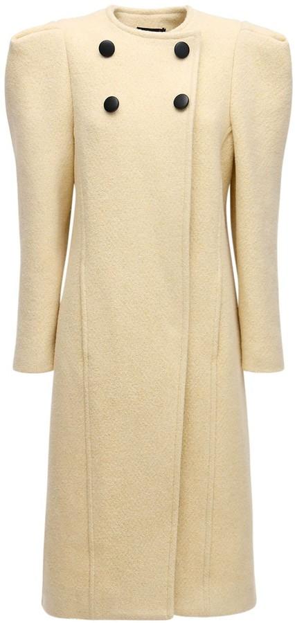 Isabel Marant Fezio Wool Blend Long Coat