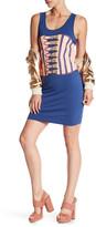 Love Moschino Corset Graphic Sleeveless Dress