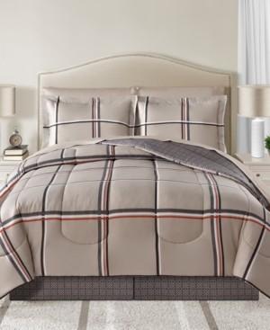 Sunham Cameron Reversible 6-Pc. Twin Comforter Set Bedding