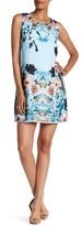 Sangria DBJVAVV Floral Printed Chiffon Sheath Dress