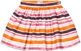 Il Gufo Orange and Pink Stripe Skirt