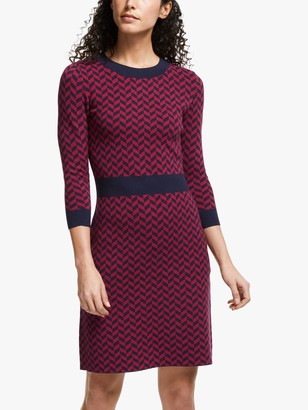 Boden Phoebe Chevron Knitted Dress