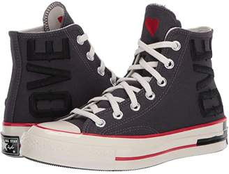 Converse Chuck 70 Hi - Love Fearlessly (Thunder Grey/University Red/Egret) Women's Skate Shoes